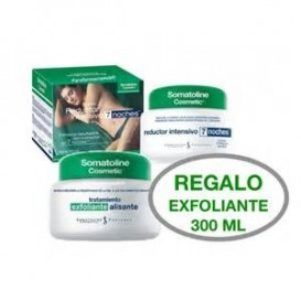Somatoline reductor intensivo 7 noches 450ml + exfoliante pre reductor 300g