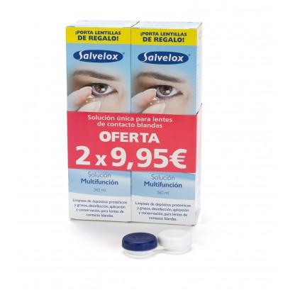 Salvelox Set Solución Única Para Lentes De Contacto 2x360ml