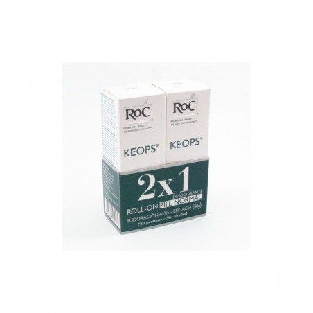 Roc keops duplo desodorante roll on sin alcohol 30ml