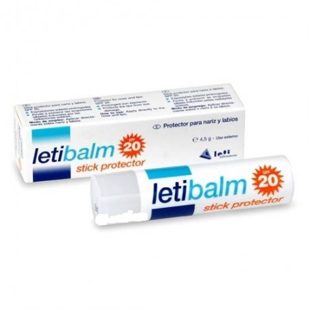 Letibalm Bálsamo Nariz y Labios Stick Protector SPF20, 4.5g