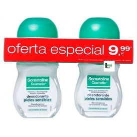 Somatoline Duplo Desodorante piel sensible roll on 50ml+50ml