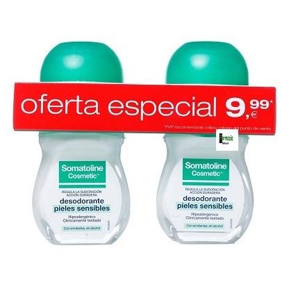 Somatoline desodorante piel sensible roll on 50ml