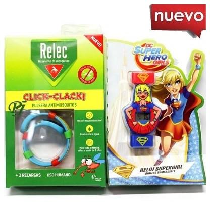 Relec Pulsera AntiMosquitos Click-Clack Supergirl