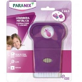 Paranix Lendrera Metalica + Lupa + Cepillo