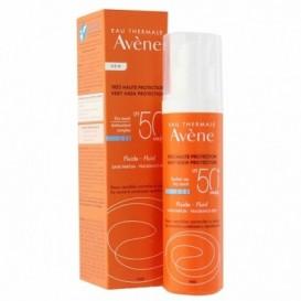 Avene Solar Fluido Toque seco Sin Perfume SPF 50+ 50ml