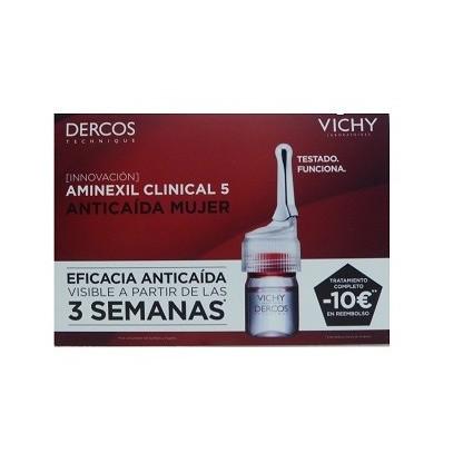 Vichy Dercos Aminexil Clinical 5 mujer 21 monodosis