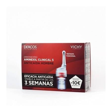 Vichy Dercos Aminexil Clinical 5 hombre 21 monodosis