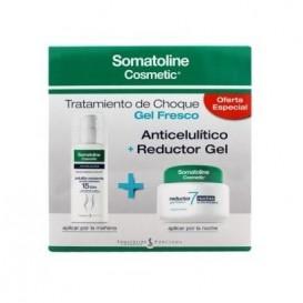Somatoline Gel fresco Reductor 7 noches 400ml+Celulitis resistente 150ml