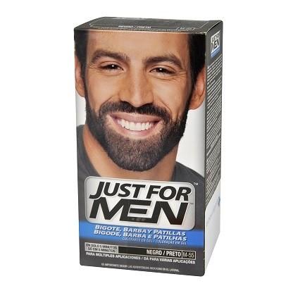 Just for Men gel Colorante negro para bigote y barba 30ml