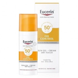 Eucerin® oil control Toque seco SPF50+ sun gel crema 50ml