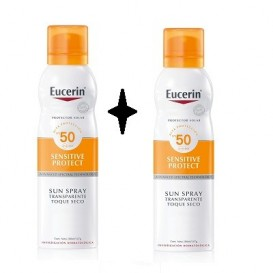Eucerin Sensitive Protect Sun Spray Transparente Toque seco 200ml