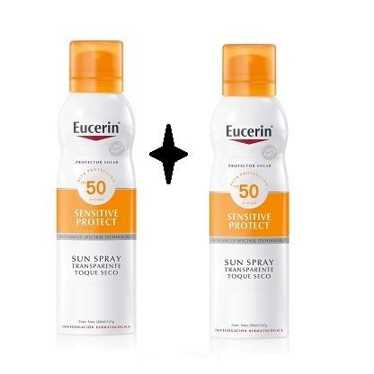 Eucerin Sensitive Protect Sun Spray Transparente Toque seco 200ml
