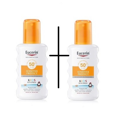 Eucerin Duplo Sun Kids Spray Sensitive Protect SPF50+ 200ml+200ml