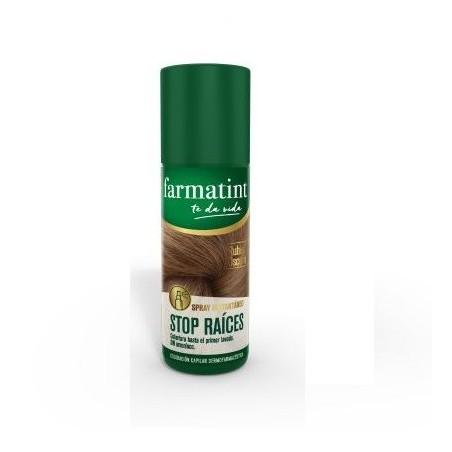 Farmatint Spray Stop Raices Rubio oscuro 75 ml