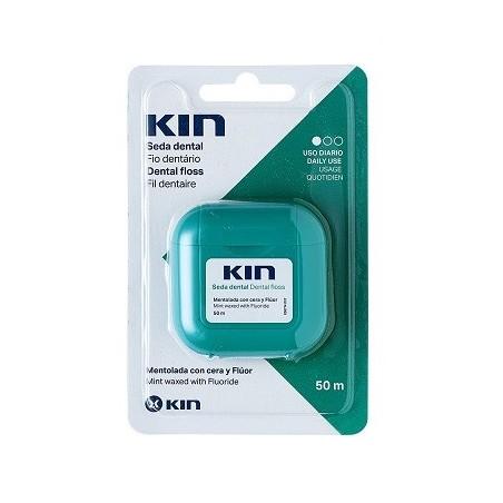 Kin Seda dental con Cera y fluor mentolada 50m