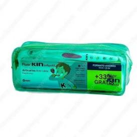 Kin Infantil Neceser pasta fresa 75ml+25ml + cepillo dental