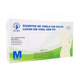 Guantes de Vinilo sin polvo Talla M 100 unidades