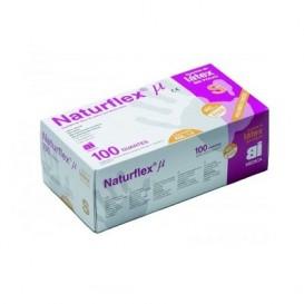 Naturflex Guantes de Latex  sin polvo Talla M 100 unidades