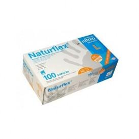 Naturflex Guantes de Latex  sin polvo Talla S 100 unidades