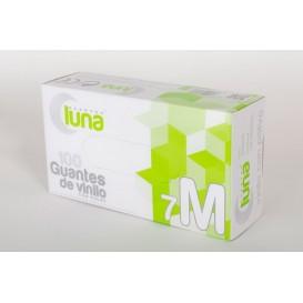 Luna Guantes de vinilo Con Polvo Talla M 100 unidades