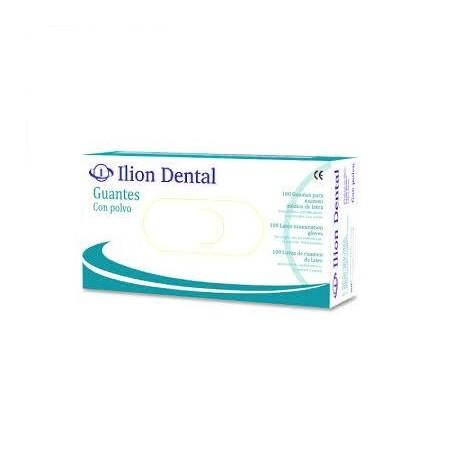 Guantes de latex Sin polvo Talla M Ilion Dental 100 unidades