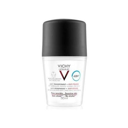 Vichy Homme Desodorante 48h Anti-transpirante y Anti-manchas 50ml