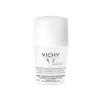 Vichy desodorante roll on pieles sensibles o depiladas 50ml