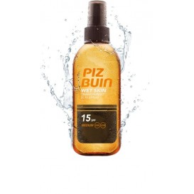 Piz buin wet skin spray solar corporal transparete fps 15 proteccion media 150ml