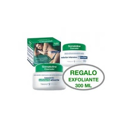 Somatoline reductor intensivo 7 noches 450ml + exfoliante pre reductor 300g